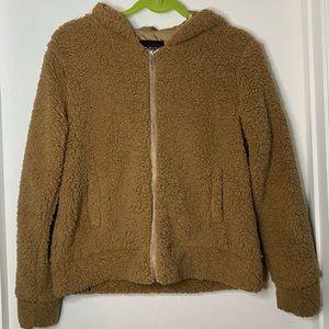 Light Brown Sherpa Jacket